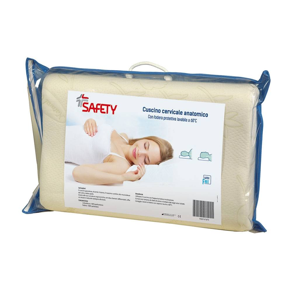 safety cuscino cervicale anatomico