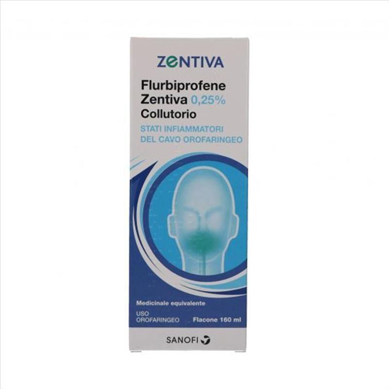 Zentiva Flurbiprofene Zen 0,25% Collutorio Flacone 160 Ml