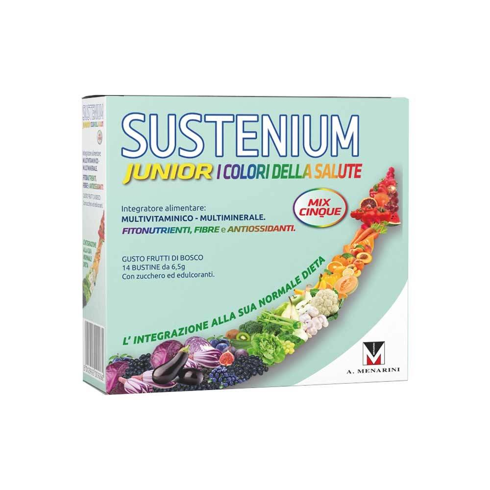sustenium i colori della salute junior integratore vitamine,14bustine