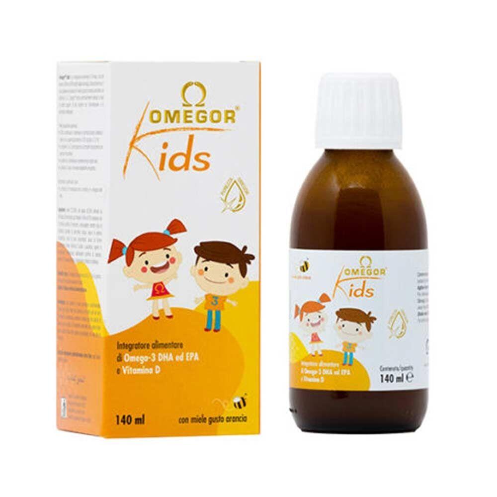 uga nutraceuticals omegor kids sciroppo per bambini a base di omega-3, 140ml