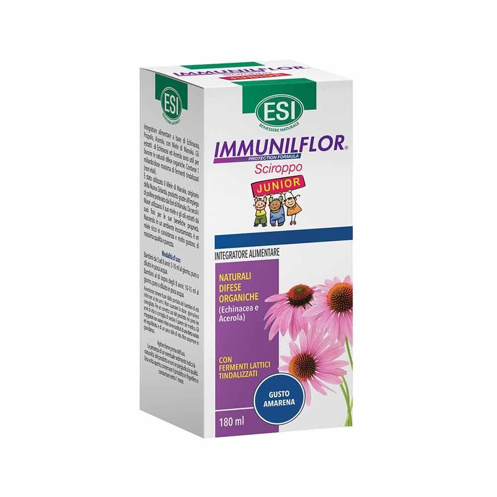 ESI Immunilflor - Sciroppo Junior Echinacea Immunostimolante per Bambini, 180ml
