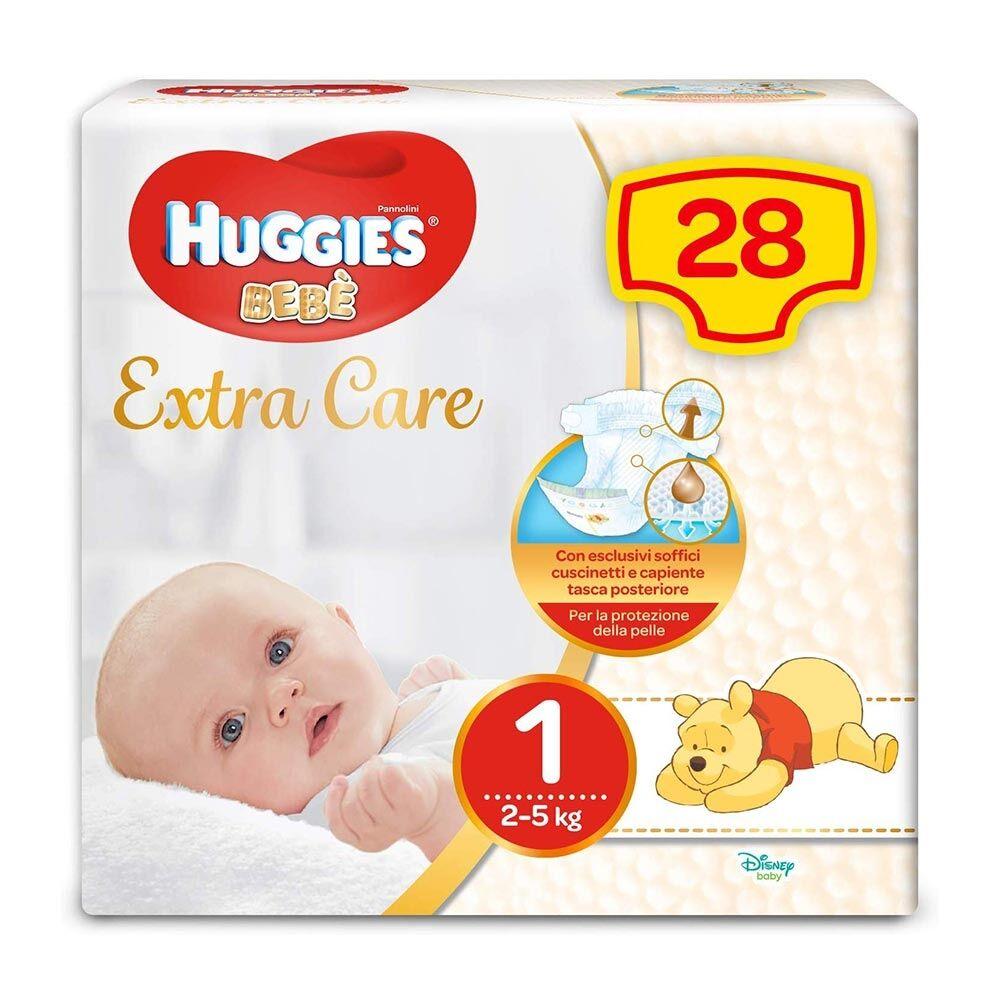 Huggies Extra Care Bebè - Pannolino Taglia 1 2-5 Kg, 28 Pannolini