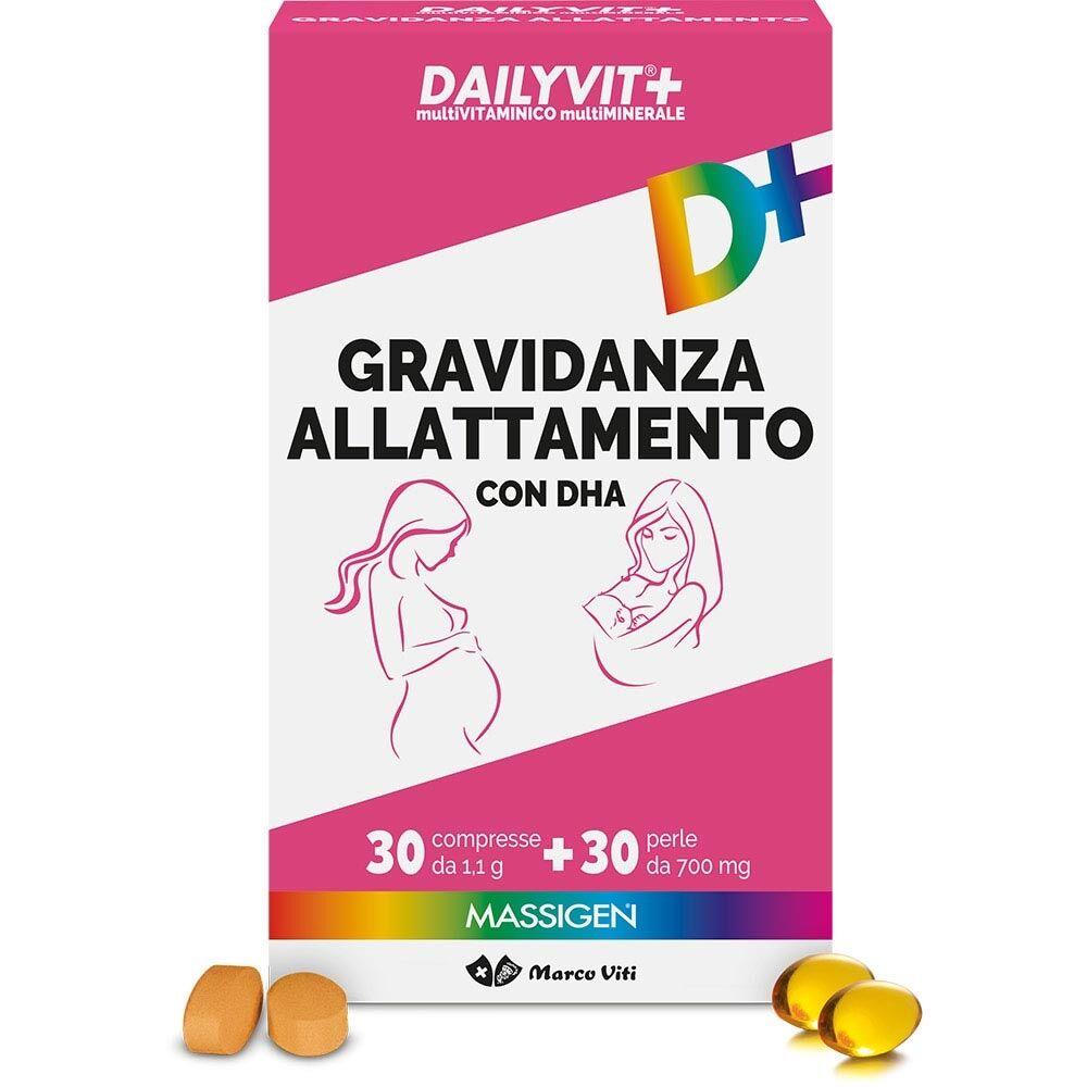 Massigen Dailyvit+ Gravidanza Allattamento, 30 compresse + 30 perle
