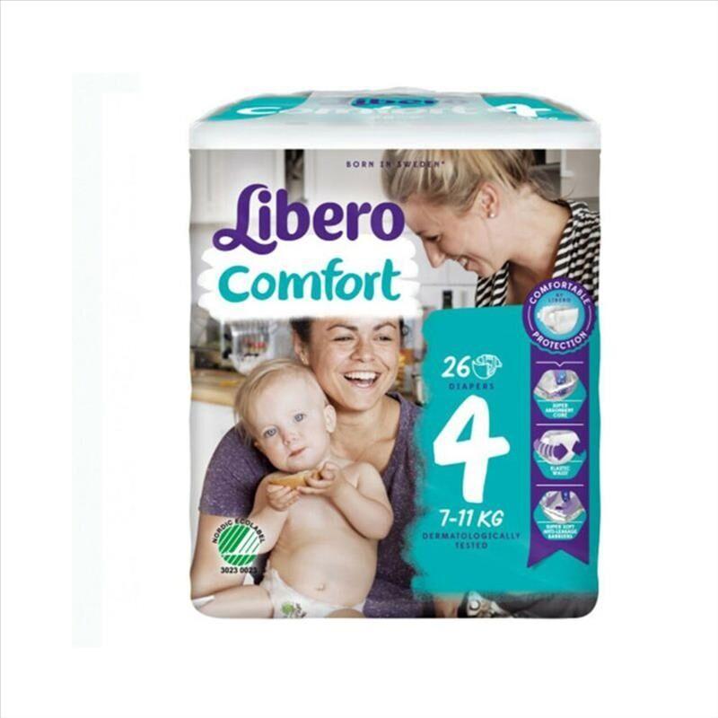 Libero Comfort Taglia 4 Pannolino Per Bambini Con Peso 7-11kg, 26 Pezzi