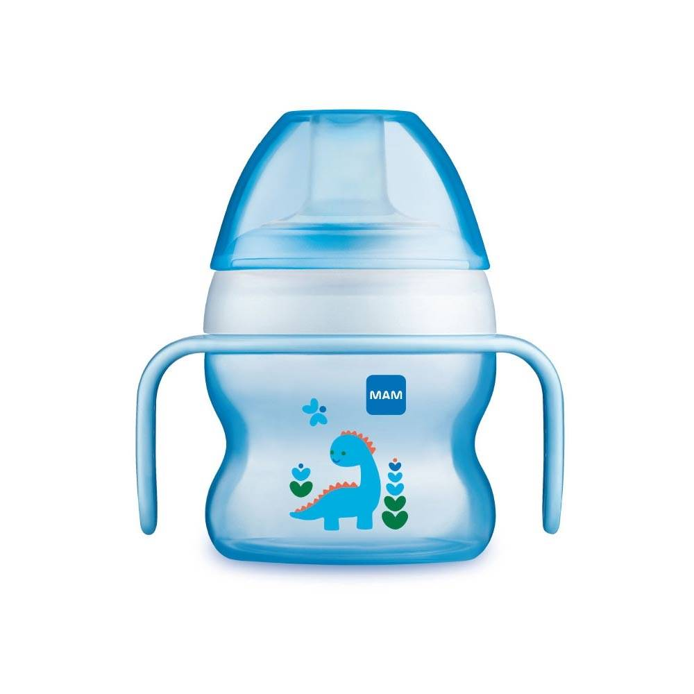 MAM Starter Cup Animal Capacità 150ml Colore Azzurro, 1 Pezzo