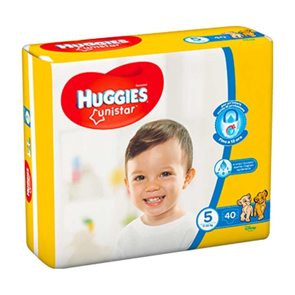 Huggies Unistar Pannolino per Bambini Taglia 5 per 11-25 Kg, 40 Pezzi