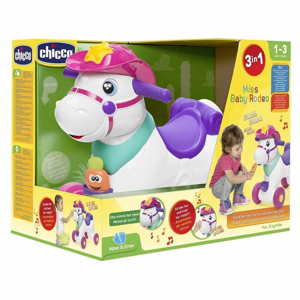 Chicco Gioco Miss Baby Rodeo Cavallo a Dondolo 1-3 Anni, 1 Pezzo
