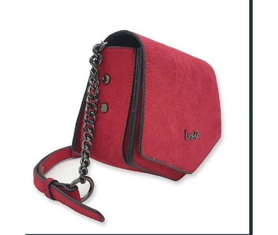 lya-klo bag scamosciata con catena