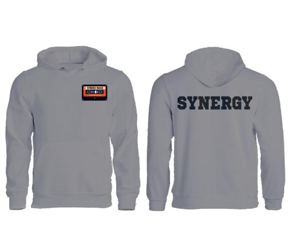 Synergy Felpa Zip Con Cappuccio Uomo Logo  Music Grigio Chiaro