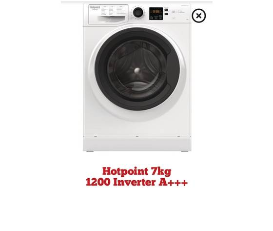 Lavatrice Hotpoint 7kg Cl A+++ 1200gg Motore Inverter Nf723wk It