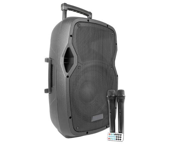 """04168620 Box Audio Attivo 12"""" 600w A Batteria Con Bluetooth/usb/sd, Mp3, Echo, Equalizzatore E Trolley"""