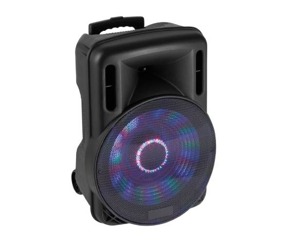 """04168515 Box Audio Attivo 15"""" 800w A Batteria Con Bluetooth/usb/sd, Mp3, Echo, Disco-Led E Trolley"""