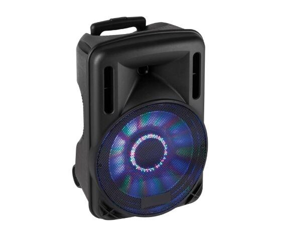"""04168512 Box Audio Attivo 12"""" 700w A Batteria Con Bluetooth/usb/sd, Mp3, Echo, Disco-Led E Trolley"""