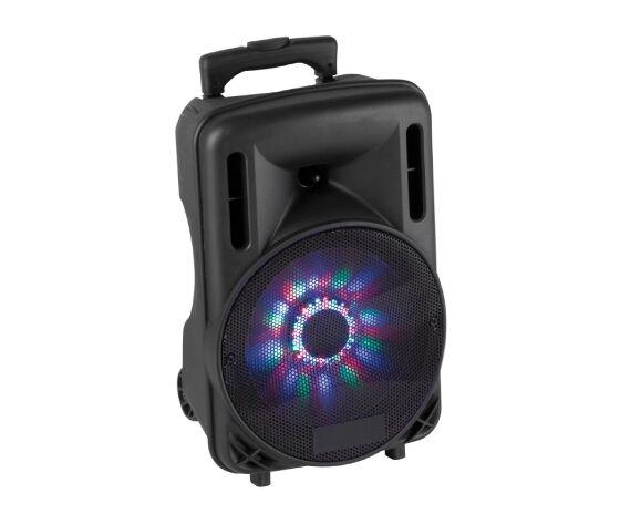 """04168510 Box Audio Attivo 10"""" 450w A Batteria Con Bluetooth/usb/sd, Mp3, Echo, Disco-Led E Trolley"""