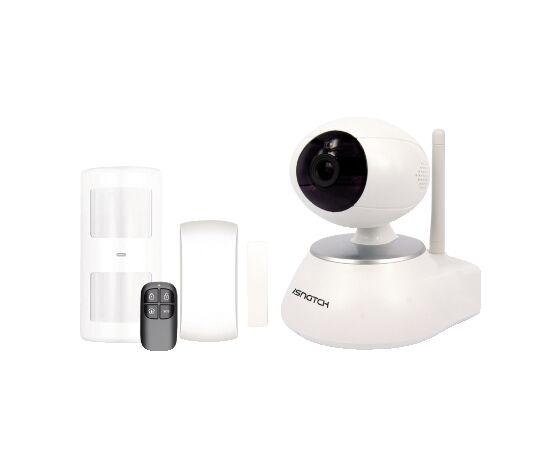 67379200 Allarme Wireless Con Telecamera Ip Wi-Fi/wired Motorizzata Hd 720p, Audio Bidirezionale E Rilevamento Motion, Registrazione Su Micro Sd, Gestibile Da Smartphone/tablet/pc, Compatibile Onvif