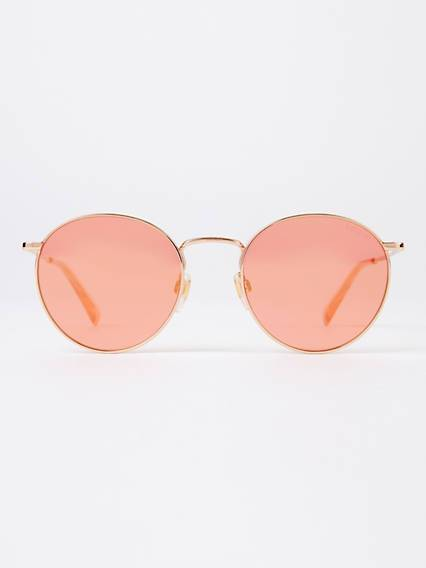 Levis Orange Round Sunglasses Arancione / Gold Copper