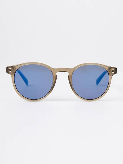 Levis Blue Round Sunglasses Blu / Mud