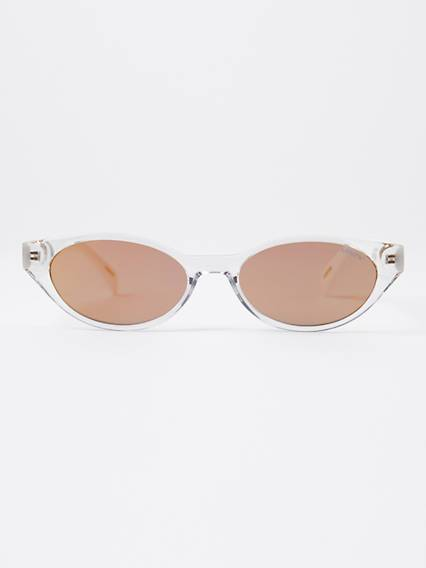 Levis White Cat Eye Sunglasses Bianco / Crystal