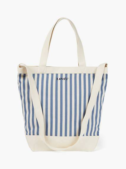 Levis Striped Shopper Bag Blu / Blue