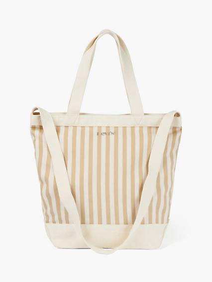 Levis Striped Shopper Bag Beige / Light Beige