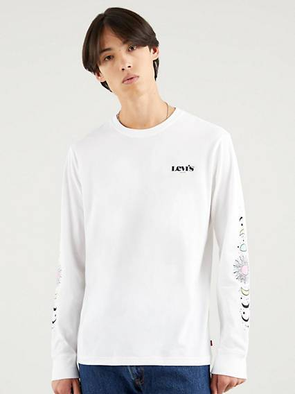 Levis Relaxed Graphic Tee Neutral / Clouds