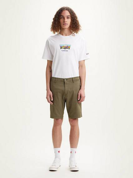 Levis XX Chino Taper Shorts Verde / Bunker Olive Leather
