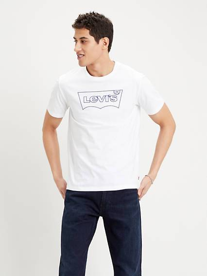 Levis Housemarked Graphic Tee Bianco / Outline White
