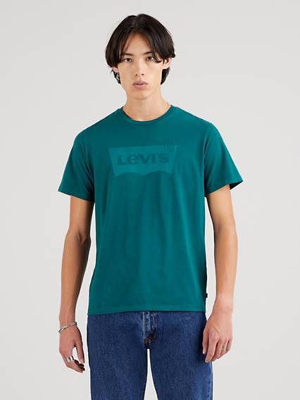 Levis Housemarked Graphic Tee Neutral / Forest Biome