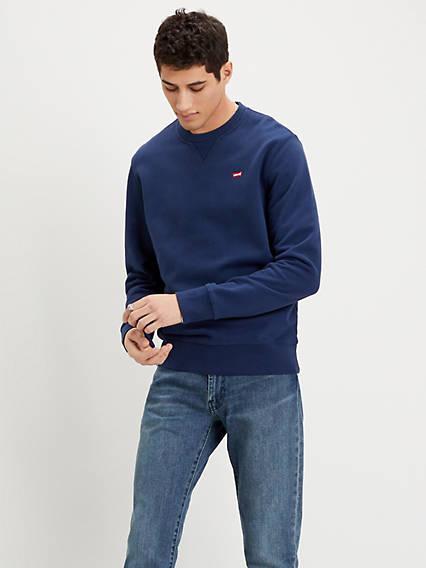 Levis New Original Sweatshirt Blu / Blue