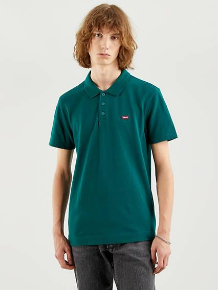 Levis Standard Housemarked Polo Neutral / Forest Biome
