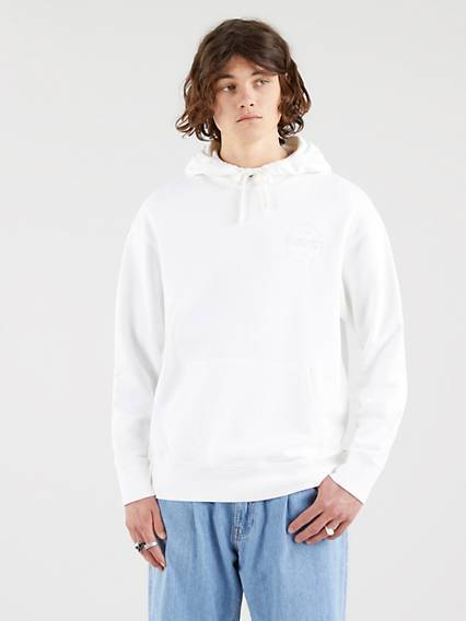 Levis Relaxed Fit Hoodie Bianco / White