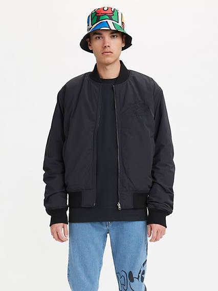 Levis X Disney Reversible Bomber Jacket Nero / Mineral Black