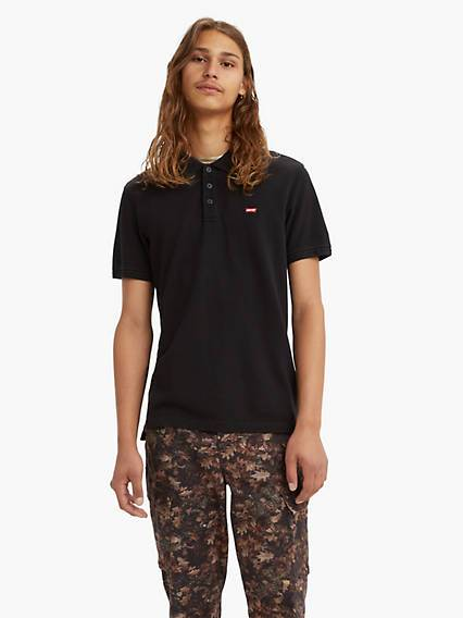 Levis Standard Housemarked Polo Nero / Mineral Black