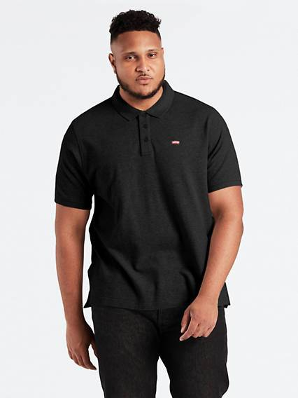 Levis Standard Housemarked Polo (Big & Tall) Nero / Mineral Black