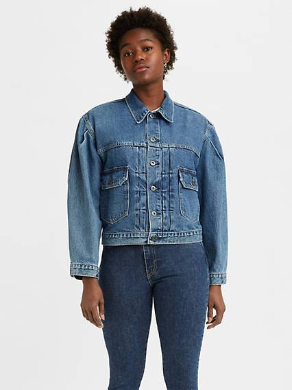 Levis Made & Crafted Sunray Trucker Jacket Medium Indigo / Sunshine