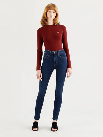 Levis 721 High Rise Skinny Jeans Dark Indigo / Santiago Night