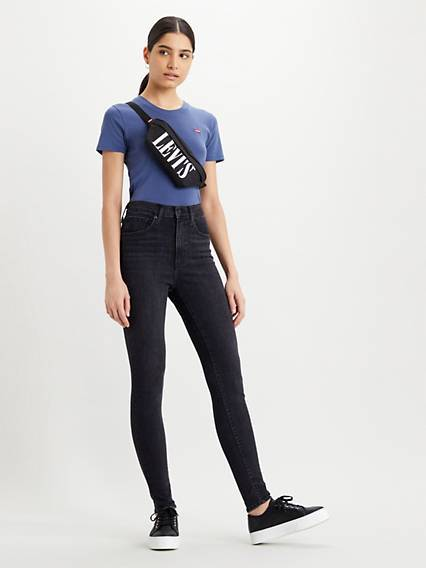 Levis Mile High Super Skinny Jeans Nero / Black Ground