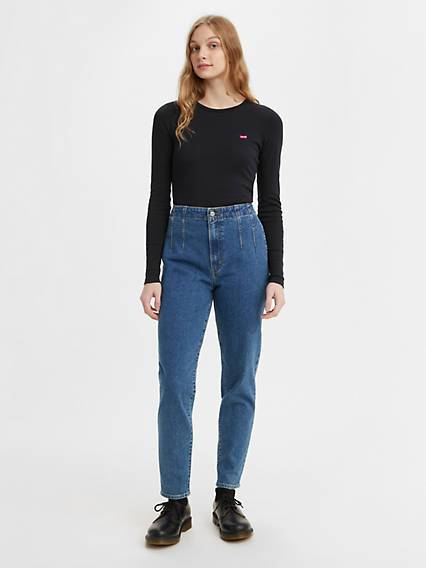 Levis Hollywood High Waisted Taper Medium Indigo / Stop Calling Me