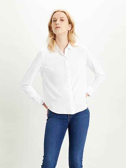Levis The Classic Shirt Neutral / Bright White