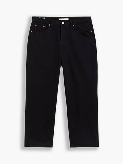 Levis Ribcage Straight Ankle Jeans Nero / Black Sprout