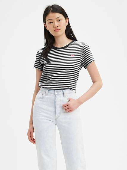 Levis The Perfect Tee Multicolore / Caviar