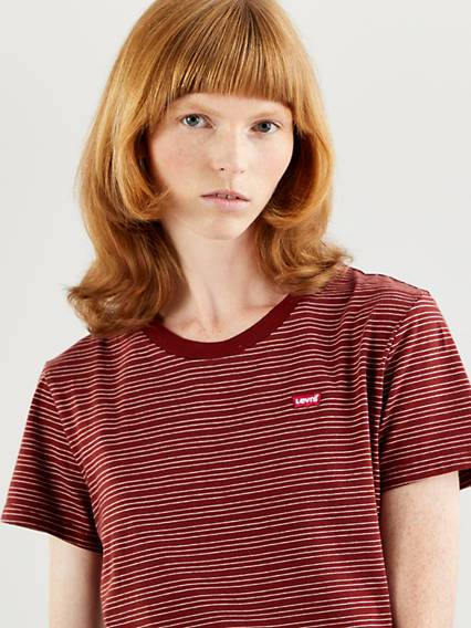 Levis The Perfect Tee Marrone / Madder Brown