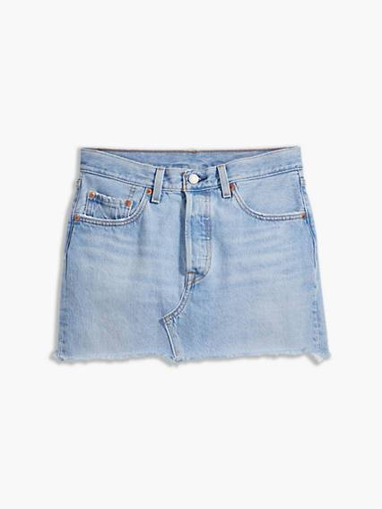 Levis Deconstructed Skirt (Plus) Light Indigo / Luxor Heat
