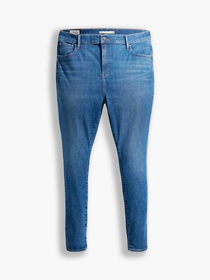 Levis 720 High Rise Super Skinny Jeans (Plus) Dark Indigo / Eclipse Craze