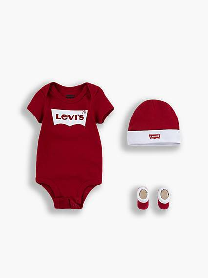 Levis Baby Batwing Set Rosso / Red