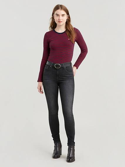 Levis 721 High Rise Skinny Jeans Nero / Steady Rock