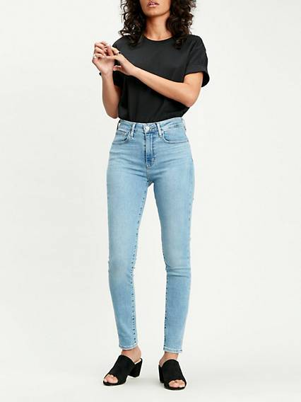 Levis 721 High Rise Skinny Jeans Light Indigo / Have A Nice Day