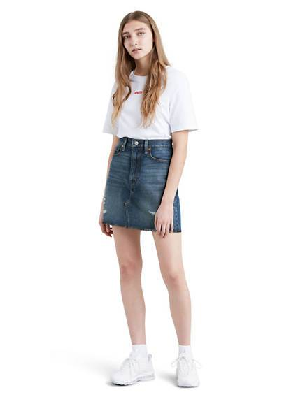 Levis High Rise Deconstructured Iconic Skirt Colorazione media / Middle Avenue