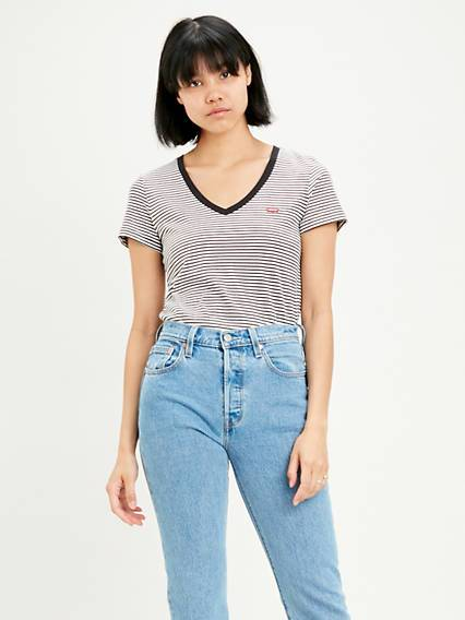 Levis The Perfect Tee Multicolore / Annalise Stripe Cloud Dancer