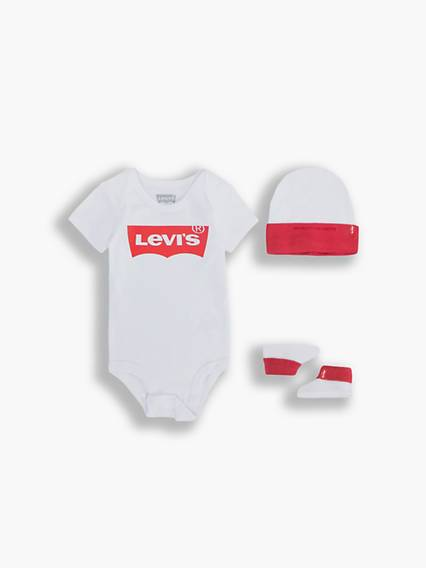 Levis Baby Classic Batwing Set Bianco / White